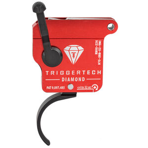Trigger Tech Remington 700 Clone Actions Diamond Trigger Single Stage Curved 7075 Aluminum Anodized Housing Red