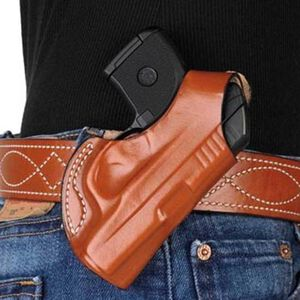 DeSantis Gunhide Quick Snap Belt Holster Colt Mustang/Sig P238 Right Hand Leather Tan 027TAP6Z0