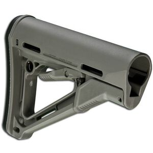 Magpul CTR Commercial AR-15 Carbine Stock With Friction Lock And QD Sling Attachment Points And Rubber Buttpad Polymer Gray MAG311-GRY