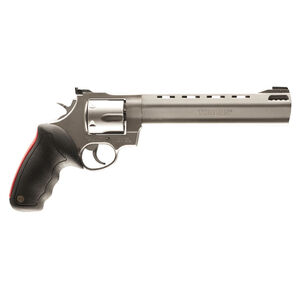 "Taurus Raging Bull 444 Double Action Revolver .44 Magnum 8.375"" Ported Barrel 6 Rounds Fixed Front Sight/Adjustable Rear Sight Rubber Grip Matte Stainless Steel Finish"