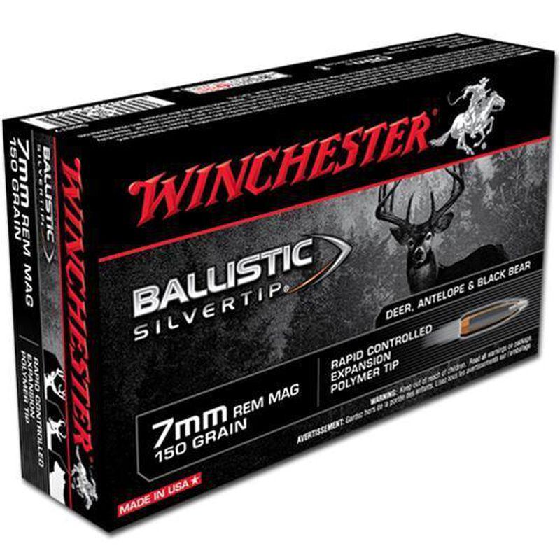 Winchester Silvertip 7mm Remington Magnum Ammunition 20 Rounds BST 150 Grains SBST7