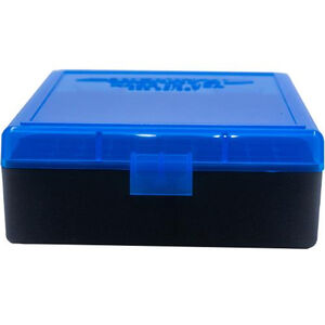 Berry's 003 Ammo Box .38/.357 100 Round Polymer Blue/Black