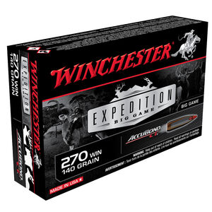 Winchester Expedition Big Game  .270 Win Ammunition 20 Rounds 140 Grain Accubond 2950fps