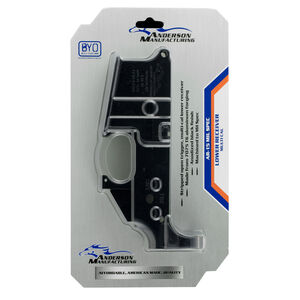 Anderson Manufacturing AR-15 Stripped Lower Receiver .223/5.56 Mil-Spec Open Trigger Aluminum Black