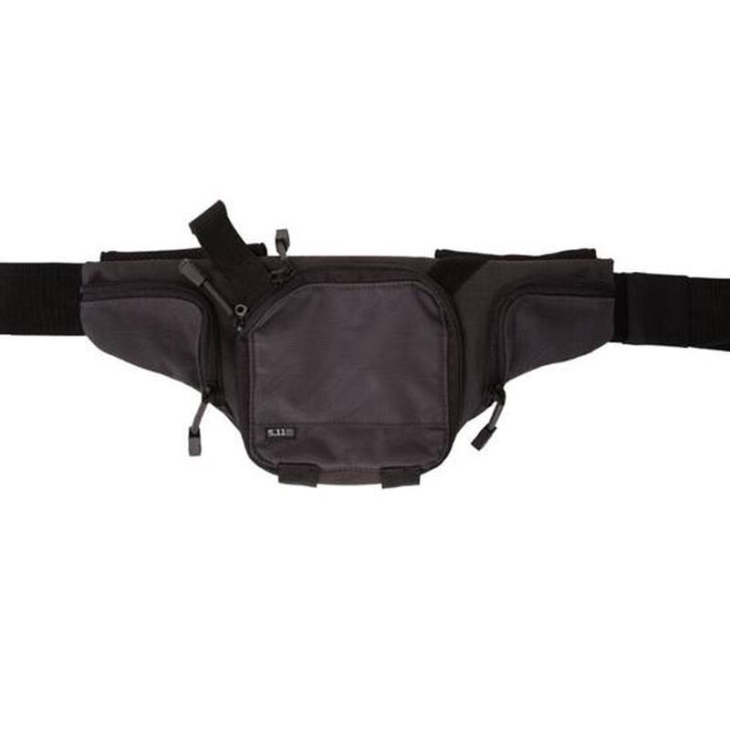5.11 Tactical Pistol Pouch Select Carry Fanny Pack Black/Charcoal Small Covert Carry Pistol Pouch