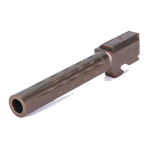 Faxon Barrel For GLOCK G17 FLAME Match Full-Size Gen 1-4 9mm SAAMI Stainless Standard Length Bronze GB910N17LGQ-N-ORB