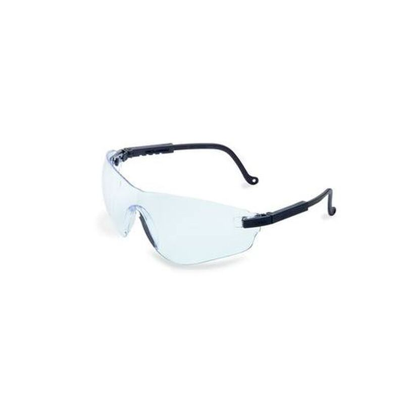 Uvex Falcon Safety Glasses Clear Lenses Spatula Temples Black S4500X