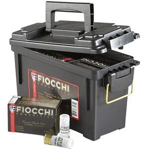 "Fiocchi Self Defense Low Recoil 12 Gauge Ammunition 80 Rounds 2-3/4"" 00 Buckshot 9 Pellet Nickel Plated Lead 1150fps"
