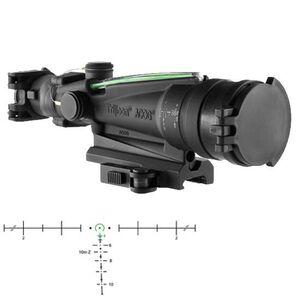 Trijicon ACOG TA11MGO-M249 3.5x35 Machine Gun Scope Dual Illuminated Green Horseshoe/Dot M249 Ballistic Reticle 1/4 MOA with GDI Mount and ARD Aluminum Black TA11MGO-M249