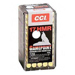 CCI Gamepoint .17 HMR Ammunition 50 Rounds JSP 20 Grains 2,375 Feet Per Second