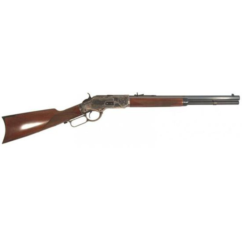 """Cimarron 1873 Saddle Shorty Lever Action Rifle .38 Special/.357 Magnum 18"""" Octagonal Barrel 10 Rounds Checkered Walnut Stock Blued CA2010G35"""