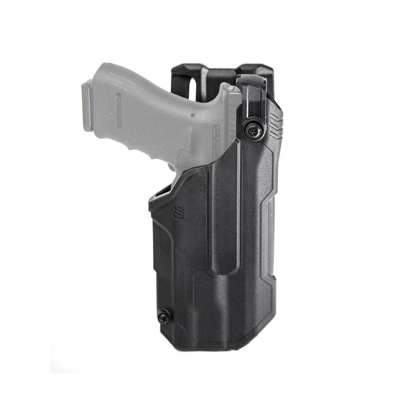 BLACKHAWK! T-Series Level 3 Light Bearing Duty Holster Fit SIG Sauer P320 with Streamlight TLR-1 or TLR-2 Right Hand Polymer Black