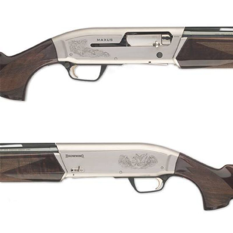 "Browning Maxus Hunter Semi Automatic Shotgun 12 Gauge 28"" Barrel 3.5"" Chamber 4 Round Capacity Walnut Stock Blued Barrel Finish 011608204"