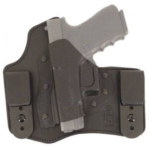 DeSantis 105 The Intruder IWB Holster For GLOCK 17/19/22/23 Left Hand Leather/Kydex Black 105KBB2Z0