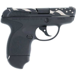 "Taurus Spectrum .380 ACP Semi Auto Pistol 2.8"" Barrel 6 Rounds Black Polymer Frame with Black Inserts Black and White US Flag Finish"