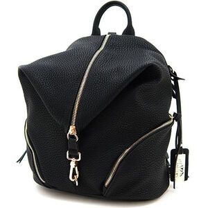 "Cameleon Aurora Teardrop Backpack Style Handbag with Concealed Carry Gun Compartment 12""x14""x6"" Synthetic Leather Black"