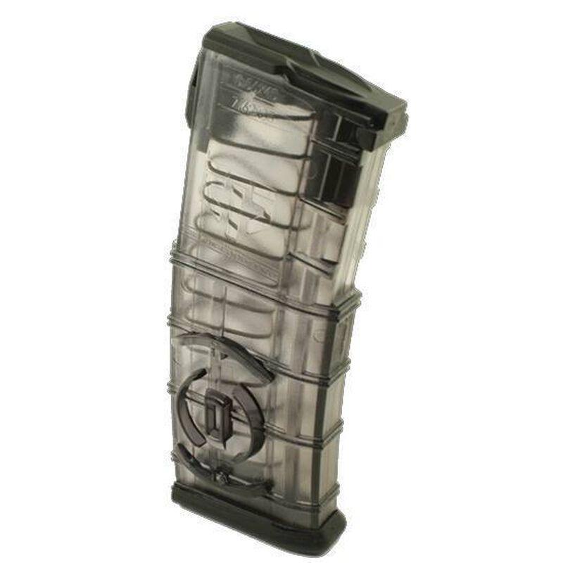 Elite Tactical Systems AR-15 Magazine w/ Coupler, 5.56 NATO/.223 Rem, 30 Rounds, Polymer, Translucent/Black