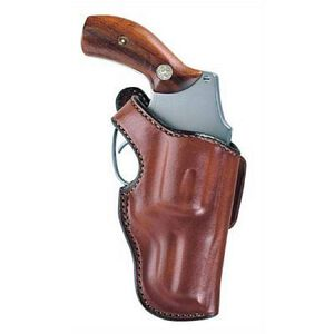 """Bianchi Lightnin' Hip Holster Small-Frame Revolvers 2"""" Barrels Size 1 Right Hand Leather Tan"""
