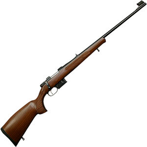 "CZ USA 527 Lux .22 Hornet Bolt Action Rifle 23.625"" Barrel 5 Rounds Rifle Sights with Integrated 16mm Scope Base Walnut Stock Blued Finished"
