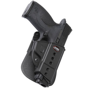 Fobus Evolution Holster CZ P-06/S&W M&P,SD9 Right Hand Paddle Attachment Polymer Black