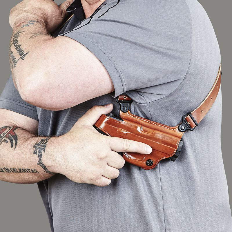 Galco Miami Classic S&W M&P Compact 9/40 Shoulder Holster System Right Hand Leather Black MC472B