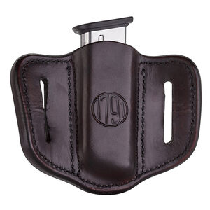 1791 Gunleather Single Stacked Magazine Single Magazine Pouch 1.1 OWB Ambidextrous Signature Brown