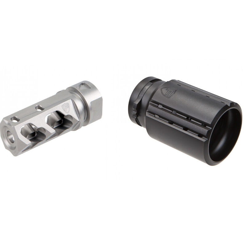 Fortis Manufacturing Control Shield with Stainless Steel 556 Muzzle Brake-Bundle Pack BNDL-556-SS