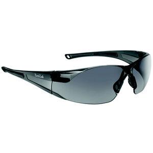 Bolle Rush Safety Glasses Smoke Lenses Gloss Clear Frames