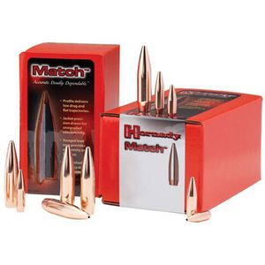 """Hornady .338 Caliber .338"""" Diameter 250 Grain Match Boat Tail Hollow Point Projectile 50 Per Box 33361"""
