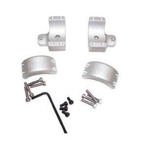 "DNZ Savage Flatback 2 Piece 1"" Medium Rings 4 Screw Silver"