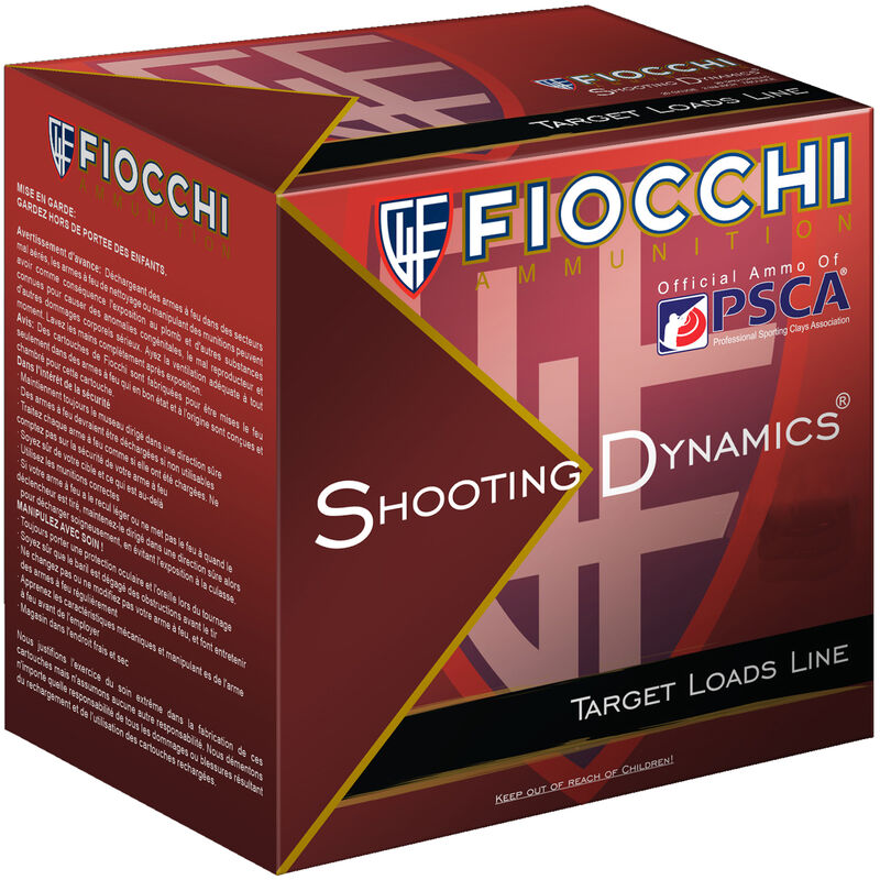 "Fiocchi Shooting Dynamics Light Dynamic 12 Gauge Ammunition 2-3/4"" #9 1-1/8oz Lead Shot 1165fps"