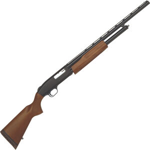 "Mossberg 500 Youth Bantam 20 Gauge Pump Action Shotgun 22"" Barrel 3"" Chamber 5 Rounds Twin Bead Sights Wood Stock Matte Black"