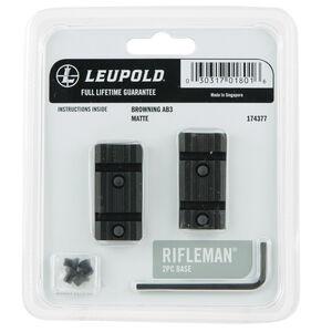 Leupold Rifleman 2-Piece Scope Base Browning AB3 Aluminum Black