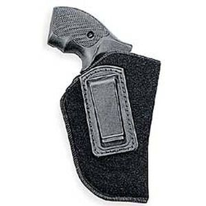 """Uncle Mike's IWB Holster Size 0 2-3"""" Small/Medium Double Action Revolvers Right Hand Nylon Black 89001"""