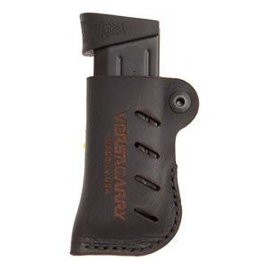 VersaCarry Adjustable Leather Magazine Holster OWB Ambidextrous Single Stack Magazines Leather Black