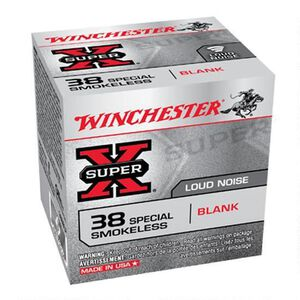 Winchester Super X .38 Special Blank 2000 Rounds, Black Powder Load
