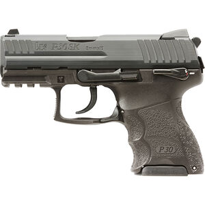 "HK P30SKS V3 Semi Auto Pistol 9mm Luger 3.25"" Barrel 10 Rounds Polymer Frame Ambidextrous Safety Black 730906KSLE-A5"