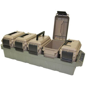 MTM 5-Can Ammo Crate Mini Cans Polymer Gray