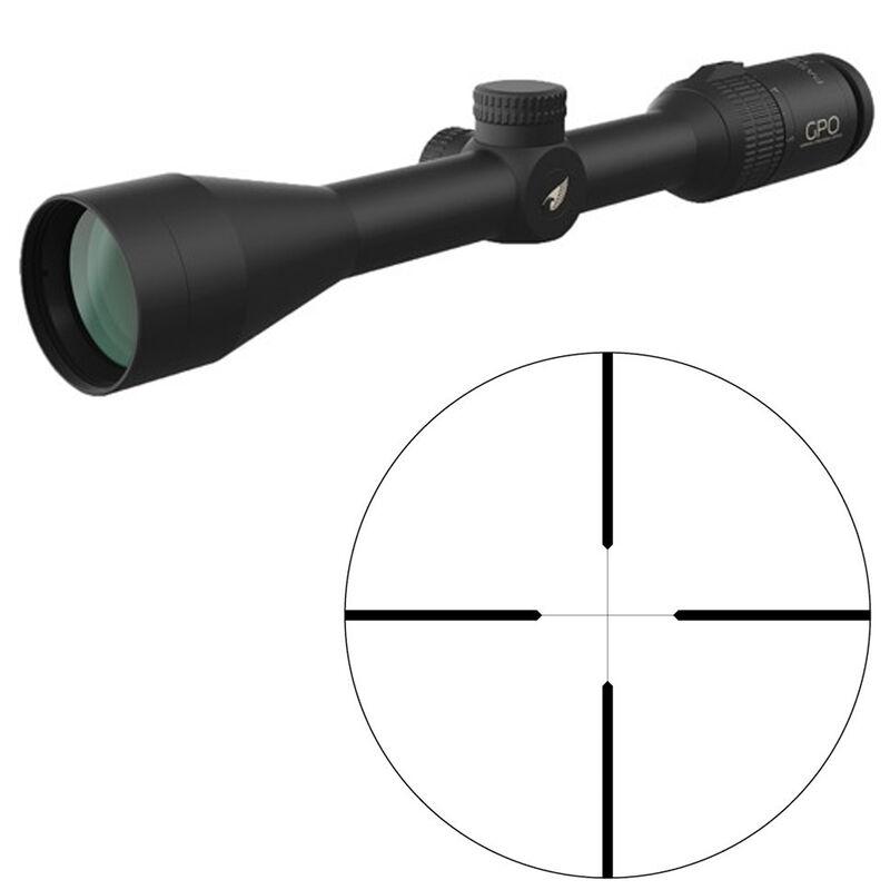 "GPO Passion 3x 4-12x42 Riflescope Plex Non-Illuminated Reticle 1"" Tube .25 MOA Adjustments Fixed Parallax Black"