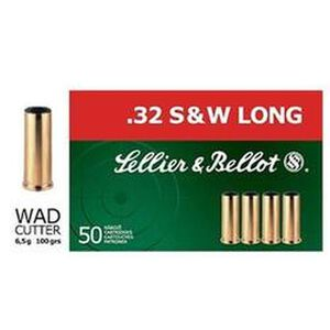 Sellier & Bellot .32 S&W Long 100 Grain LWC 50 Round Box