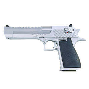 "Magnum Research Desert Eagle Mark XIX Semi Auto Pistol .44 Remington Magnum 6"" Barrel 8 Rounds Fixed Combat Sights Weaver Accessory Rail Brushed Chrome Finish"
