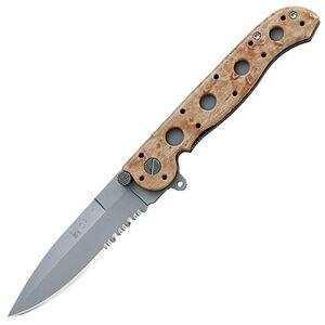 """CRKT M16-13Z Carson Folding Knife 3.5"""" Combo Spear Point Bead Blast Blade Nylon Desert Camo Handle M16-13ZM"""