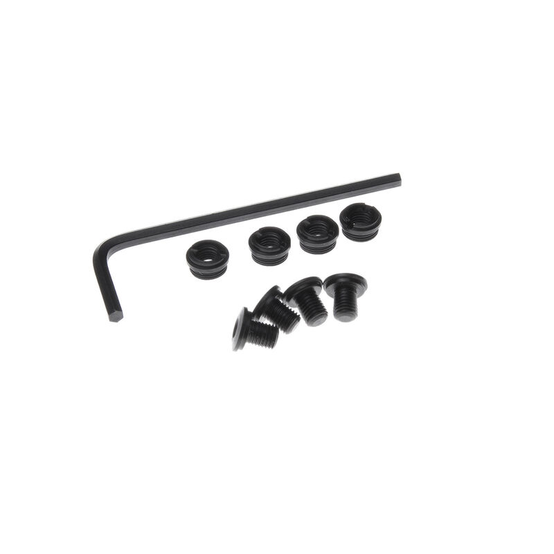Nighthawk Custom Thin Hex Head Grip Screws & Bushings Steel Blued 4 Pack