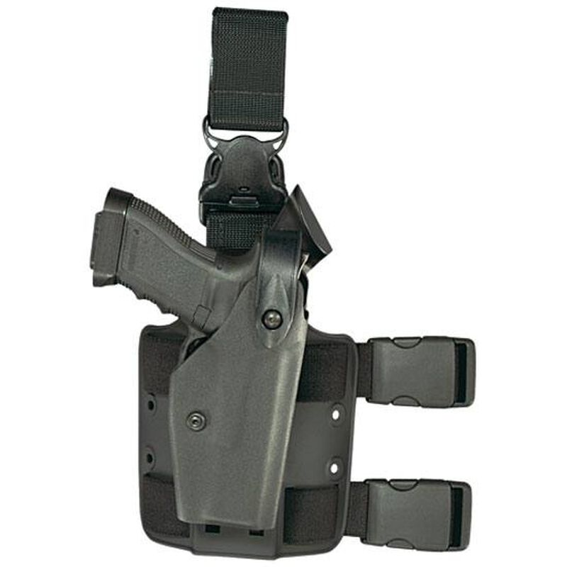 Safariland 6005 SLS Tactical with Quick Release Leg Harness Taser International X26 Level 2 Retention Left Hand Thermal-Molded Tactical Black 6005-64-122