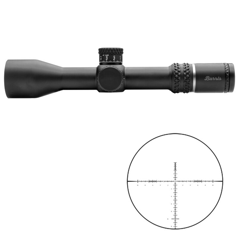 Burris Xtreme Tactical XTR III 3.3-18x50mm Rifle Scope Non-Illuminated SCR MIL Reticle 34mm Main Tube 0.10 MIL Adjustments First Focal Plane Side Focus Parallax Matte Black