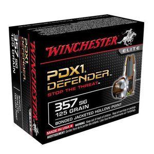 Winchester PDX1 .357 SIG 125 Grain Bond JHP 20 Round Box
