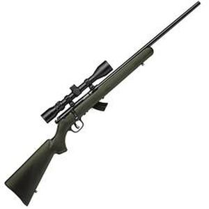 """Savage Mark II XP Bolt Action Rifle .22 Long Rifle 21"""" Barrel 10 Rounds Green Synthetic Stock 3-9x40mm Scope 26721"""