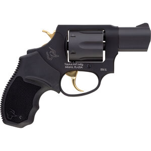 """Taurus UL 856 .38 Special +P DA/SA Revolver 2"""" Barrel 6 Rounds Rubber Grips Black Finish with Gold Accents"""