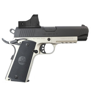 "EAA GiRSAN MC1911C Commander Model 9mm Luger Semi Auto Pistol 4.4"" Barrel 9 Rounds Red Dot Optic Ambidextrous Safety Two Tone Finish"