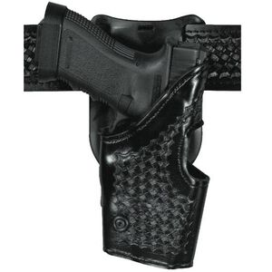 Safariland Model 295 Level II Retention Holster Glock 20, 2,1, 29, 30 Mid-Ride Right Hand Basket Black 295-383-81